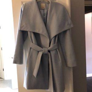 Beautiful light blue coat!  50% wool 50% poly